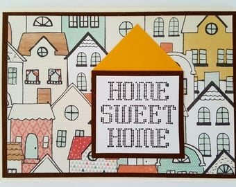 New Home Card Congratulations on Your New Home Handmade Card New House Card Housewarming Card