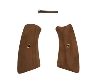 Triceratops Customs Unfinished Walnut Ruger GP100 Grip Inserts