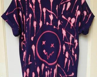 KIDS Tie dye t shirt Retro summer t shirt dip dye festival hippie tie dye t shirt smiley face children t shirt handmade kids t shirt top