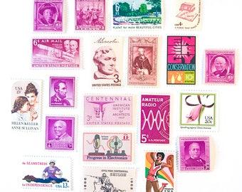 Pink Forever Postage Stamps // Oscar De La Renta Designer