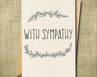 Sympathy Card, Bereavement card, Condolence Card, Loss Card, Grief Card, Floral Sympathy Card, Custom Sympathy Card, Custom Loss Card