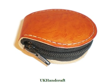 Compact Leather Coin Purse, Compact Coin Holder, Leather Coin Purse, Pocket Purse, Leather Coin Wallet, Coin Purse, Coin Purse Leather