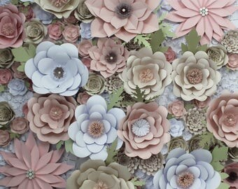 Floral Photo Backdrop, Sweet 16 Party Decorations, Dorm Wall Art, Quinceanera Photo Prop, Engagement Photo Prop, Large Paper Flower Backdrop