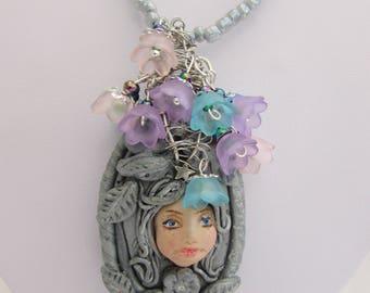 Clay Goddess Pendant