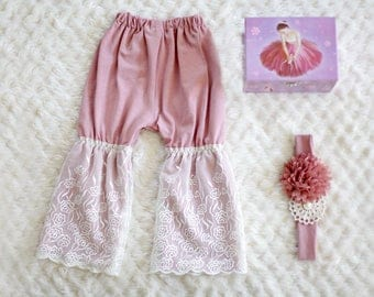 Bell Bottom Lace Pants