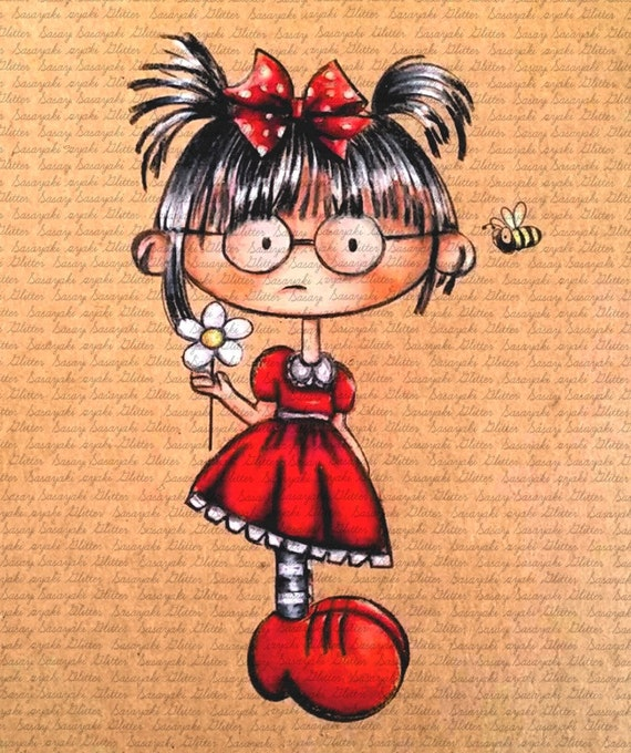 Lucy And Bee Digital Stamp by Sasayaki Glitter