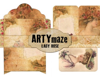 LADY ROSE Printable  Journal  ADD ons  Instant download