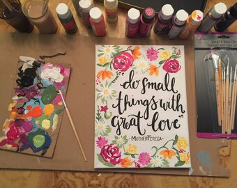 Hand painted canvas - mother Theresa