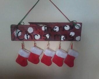 Merry Christmas Stocking Hanger