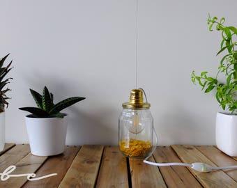 Lamp LED bulb jar handmade