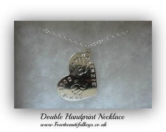 Double Hand-print Necklace