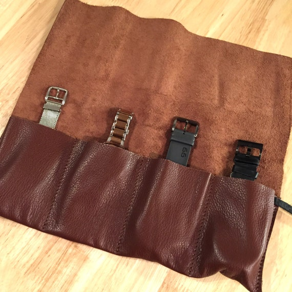 Leather Watch Pouch, Leather Roll, Watch Pouch, Watch Organizer, Leather Watch Roll, Leather Watch Case, Tool Roll, Roll Pencil Case
