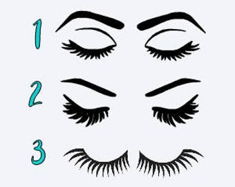 Eye Lash Decals - Eye Lash Stickers - Makeup Decals - Makeup Stickers - Eye Decals - Decorative Makeup Decals
