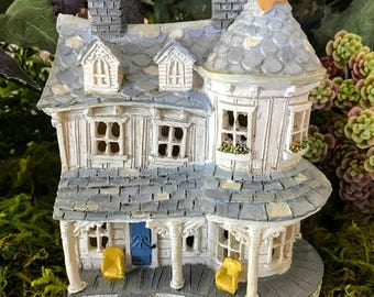 Miniature Farm House with Porch and Turret