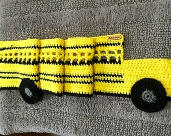 School Bus Scarf, Crochet School Bus Scarf, Bus Scarf, School Bus, Yellow Bus Scarf