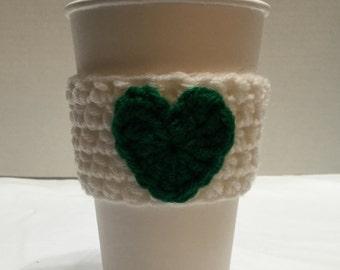Crocheted Coffee Sleeve, Coffee Cozy, Crocheted Coffee Cozy, Coffee Sleeve, To-Go Cup Cozy