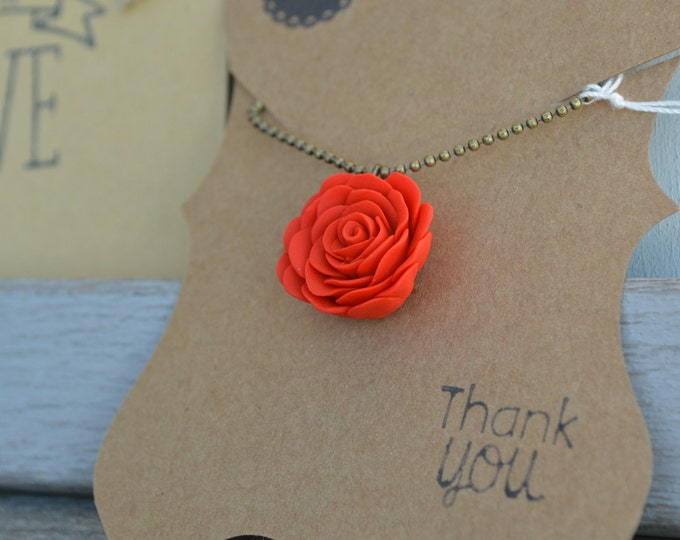 Original Mothers day gift, I love you mom, gift for mom, braidsmade gift, red rose necklace, red floral jewerly, wedding gift, red rose