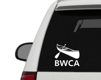 BWCA Decal Sticker, Boundary Waters Canoe Area Diecut, Bumper Sticker, Window Decal