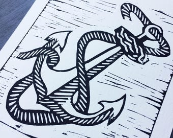 Original anchor screenprint