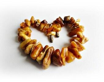 Vintage Amber Bracelet, Baltic Amber, Vintage Amber 1980's, Honey Amber, Amber Beaded Bracelet, Yellow Bracelet, Amber Jewelry