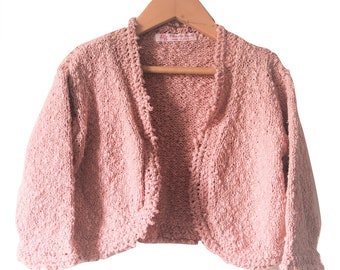 Coral hand knit cardigan