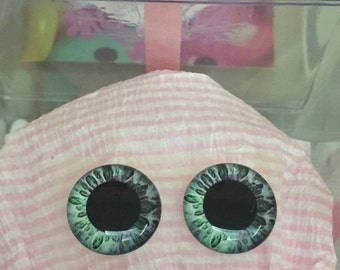 Realistic Blythe doll Eyechip - Green tones