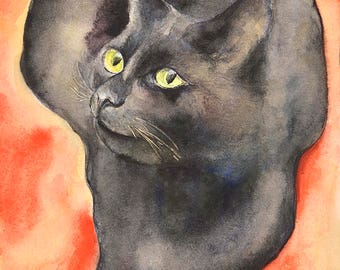 Cat No11 family water color