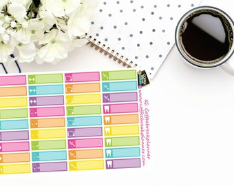 Planner Stickers  Errands/Appointment Reminder Stickers  Appointment Reminder Stickers  For use in various planners and journals AL002-HV