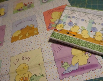 Little Chick-a-dee Quilt Top and Border Kit for Baby Boy (blue)