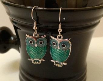 Bluw Owl Fishhook Earrings