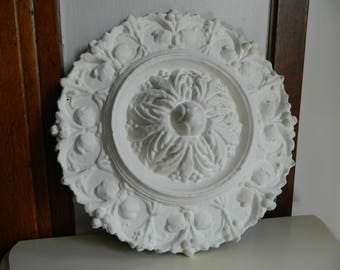 Ceiling Medallion, Ceiling Rose, Plaster Medallion, Antique Plaster, Anaglypta, Lincrusta, Tin Ceiling Square, Architecture Salvage