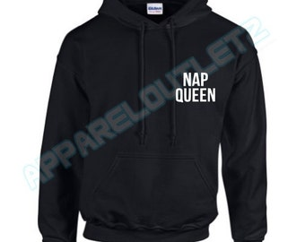 nap queen pocket logo hoody hooded top not a morning person crazy fashion tumblr funny trend hipster swag dope hype high new all colours