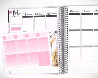 Rose Ombre Heart Checklist! Perfect for the Erin Condren Life Planner!