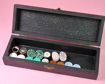 Night Sky Jewelry Box, Jewelry Organizer, Plugs Organizer