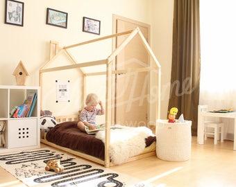 House bed, toddler bed, bed home, frame bed, original bed, home bed, floor bed, baby bed, nursery home design, children bed, SLATS HEADBOARD