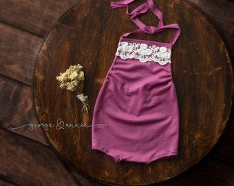 Keri Little Girl Romper - Newborn, 6-9 Months or 12 Months - Photography Prop