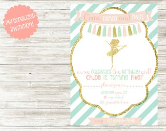 Ballerina Birthday Party Invitation!