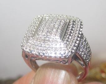 V-8 Vintage Ring 925 silver size 7