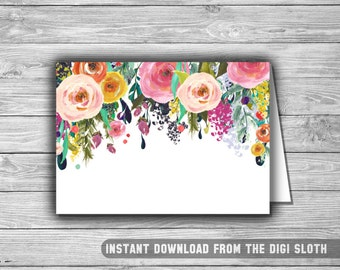 Floral - Baby Shower - Food Tents - Place Cards - Labels - PRINTABLE - INSTANT DOWNLOAD - Shabby Chic - Buffet Labels - 075