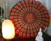 Round Floor Pillow Mandala Floor Pillow with Insert Ethnic Cushion Meditation Room Pillow Boho Decorative Pillow Medallion Floor Pillow