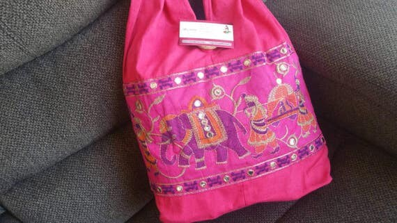 Elephant Purse Hand Embroidered Bags Ethnic Hand Bag Ethnic Shoulder bag Short Handle Bags Ethnic Bags Boho Shoulder Bags Everyday Purse