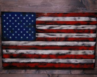 Hang Flag On Wall tactical american american flag military veteran made