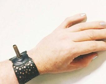 Valvalicious - upcycled innertube bracelet cuff with feature valve