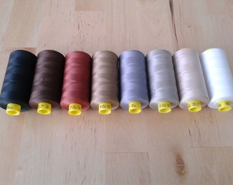Gutermann Thread choose one in neutral colors, black, white, grey, gray, brown, tan, all purpose sewing thread, mara 100, 1000 meter spool