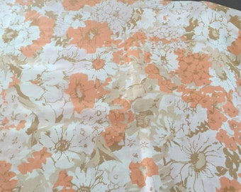 Vintage king pillowcase pair with mod flowers , free shipping !