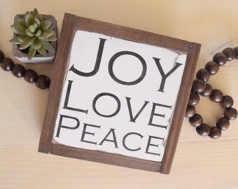 Joy Love Peace MINI
