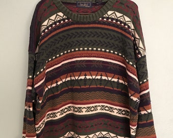 Vintage Oversized Aztec Sweater