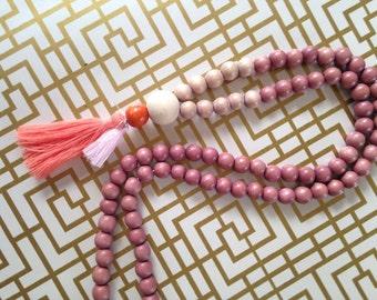 """BOHO NECKLACE """"pink glitter"""