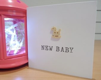 Handmade New Baby Greetings Card - Boy Or Girl Option
