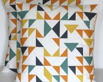 "2 x 18"" (45cm x 45cm) Prestigious Textiles Point To Point Marmalade Cushion Covers"